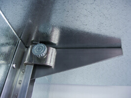 Ceiling Bracket for Walk-In Cooler Shelving Systems by E-Z