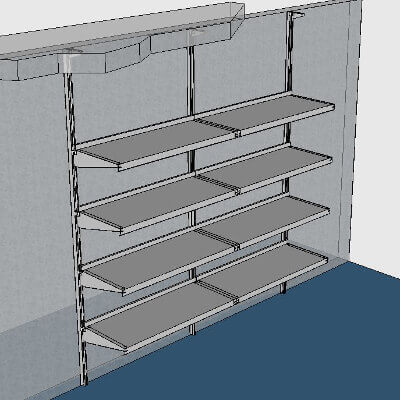 Wall-Mounted, Floor-to-Ceiling Walk-In Cooler Shelving by E-Z