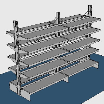 Freestanding, Back-to-Back Walk-In Cooler Shelving by E-Z