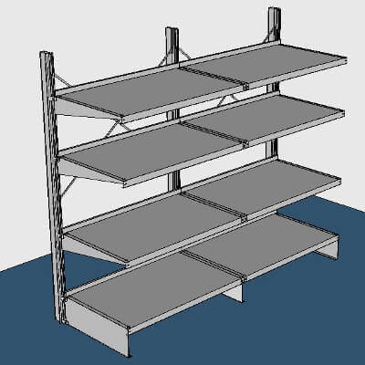Wall-Mounted Garment Rack by E-Z Shelving Systems