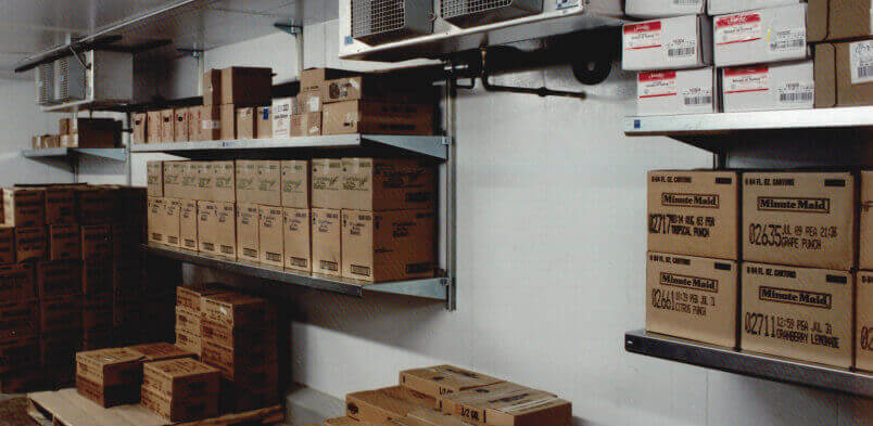 Organize your walk-in cooler with walk-in cooler shelving by E-Z Shelving Systems, Inc.