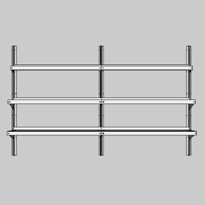 Wall-Mounted Walk-In Cooler Shelving by E-Z