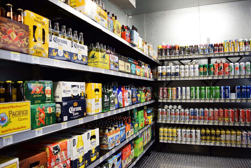 Beer Cave Shelving Systems by E-Z Shelving Systems