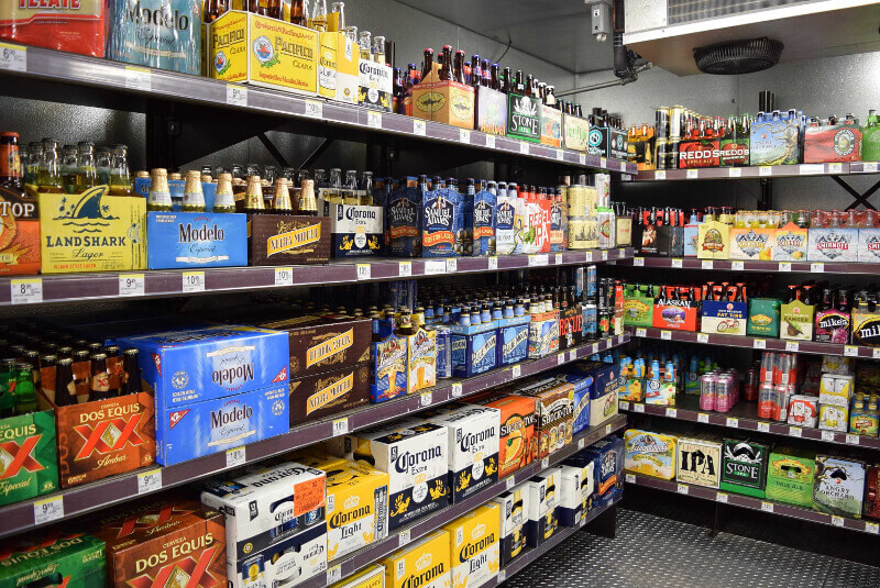 Freestanding Shelving for Beer Caves by E-Z Shelving Systems