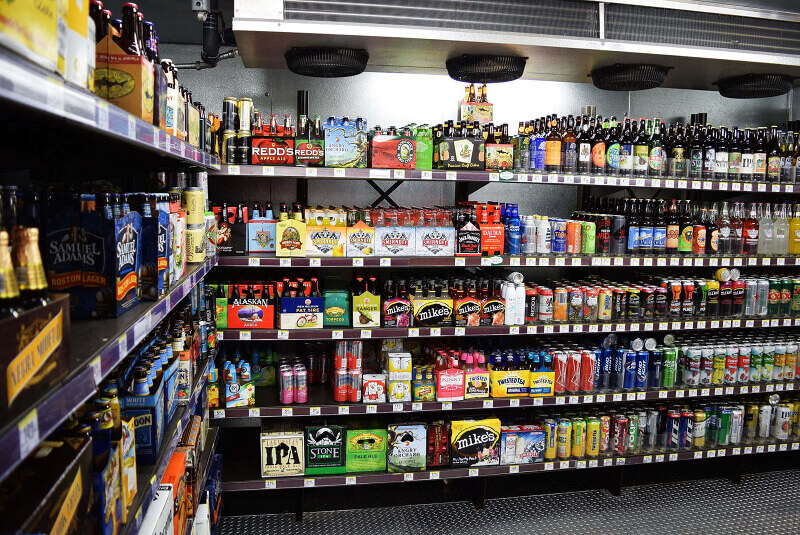 Las Vegas Beer Cave Shelving by E-Z Shelving Systems