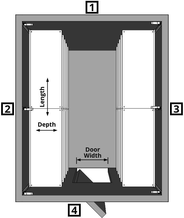 Walk-In Cooler Shelving Layout Dual Wall