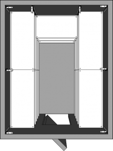 Walk-In Cooler Shelving Layout - Horseshoe