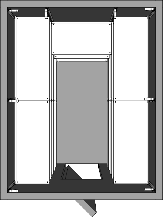 Walk-In Cooler Shelving Layout Horsehoe