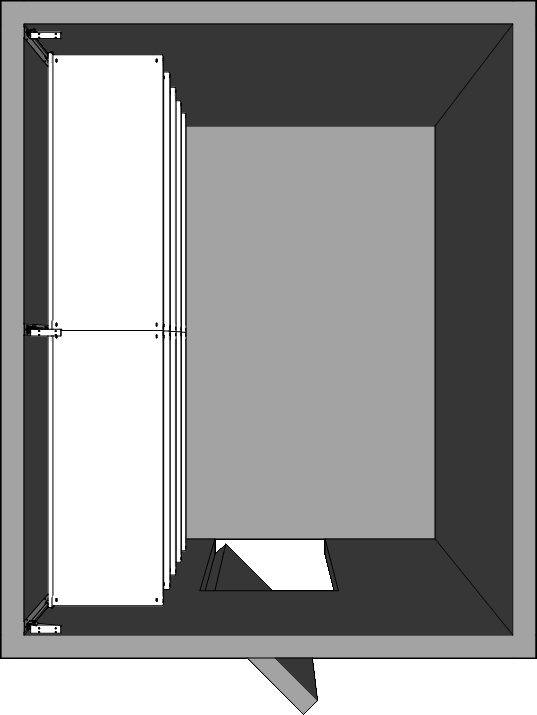 Walk-In Cooler Shelving Layout - Left Wall