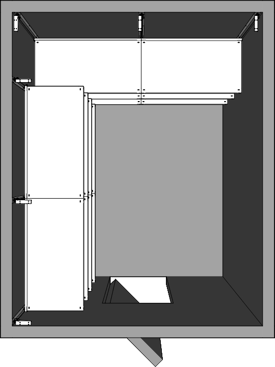 Walk-In Cooler Shelving Layout Dual Wall Right Turn