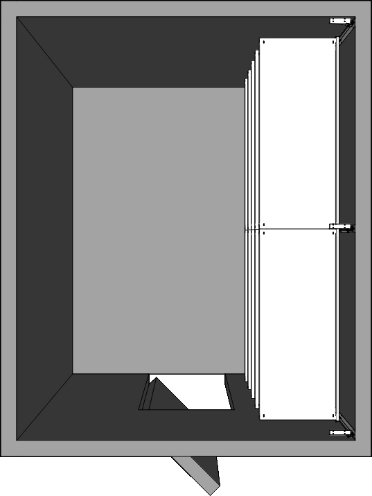 Walk-In Cooler Shelving Layout - Right Wall