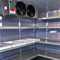 Adjustable Walk-In Cooler Shelving by E-Z Shelving Systems