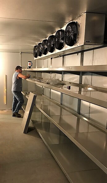 Installing Walk-In Cooler Shelving by E-Z Shelving Systems