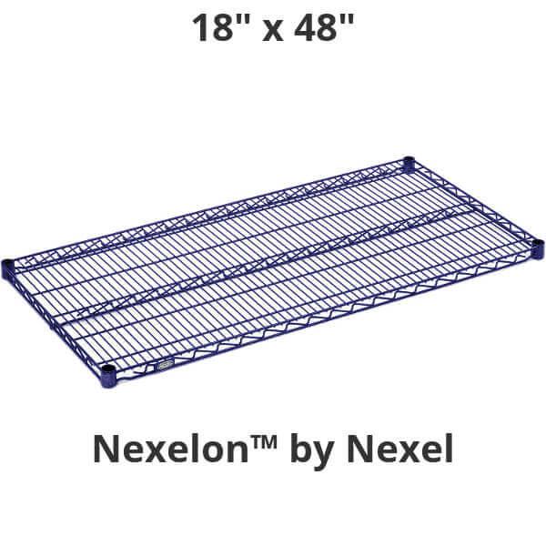 """Nexel Wire Shelf, Nexelon Finish, 18"""" x 48"""""""