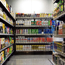 Beer Cave Shelving for Convenience Stores