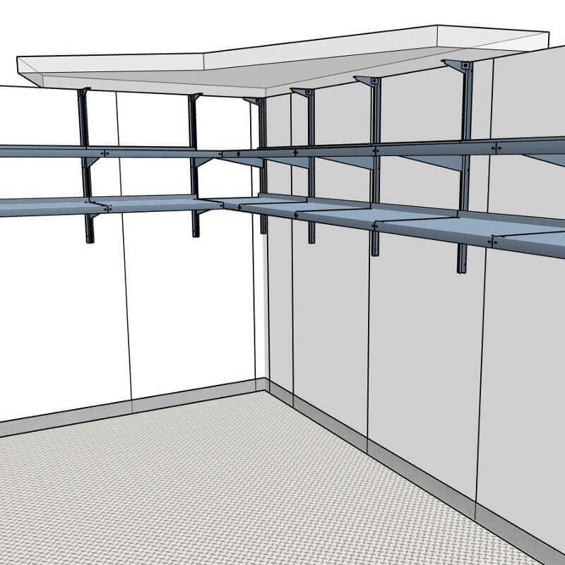 Beer Cave Shelving ⋆ Walk In Cooler Shelving Systems