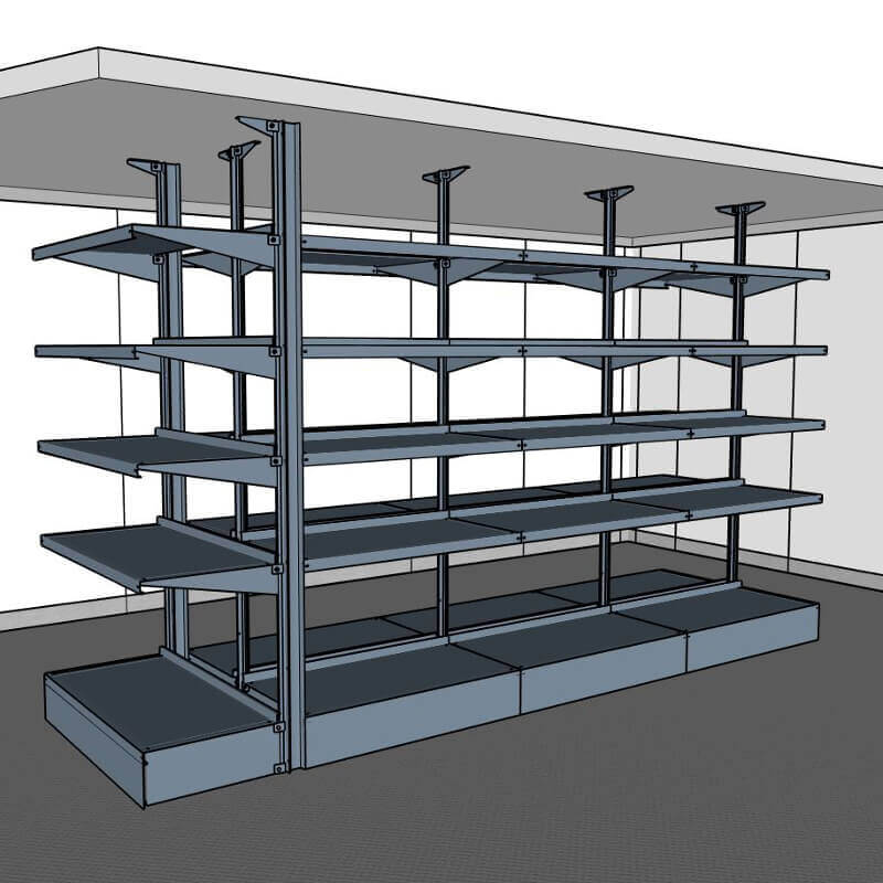 Floor-to-Ceiling Beer Cave Shelving by E-Z Shelving Systems