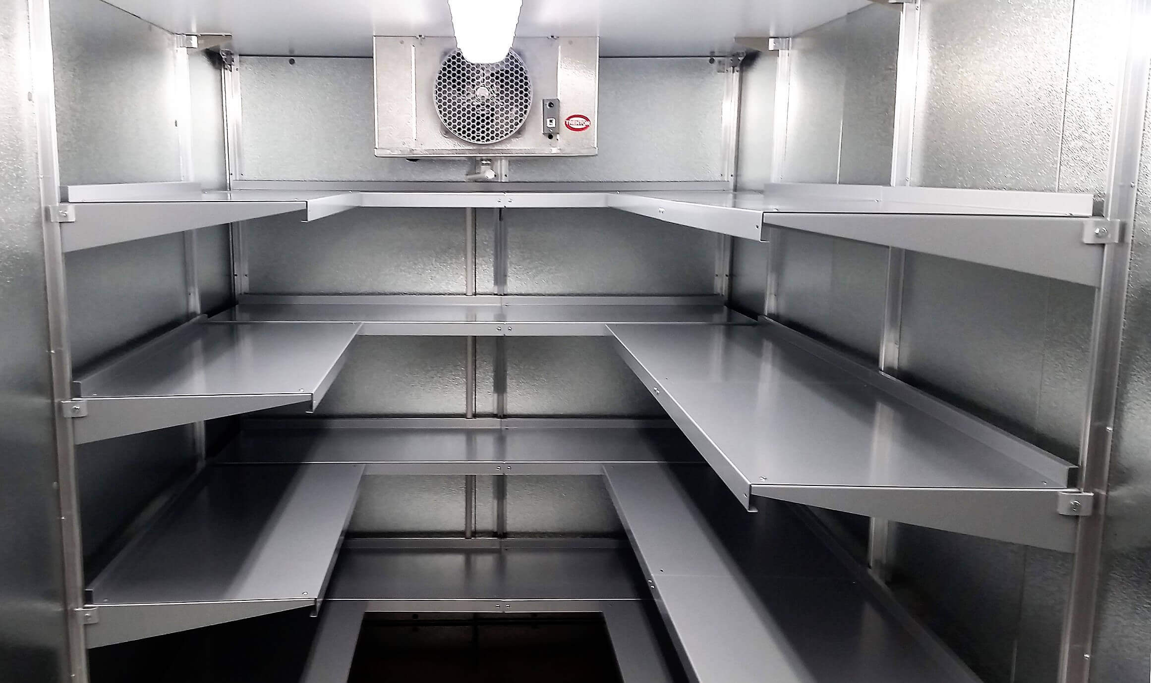 Mortuary Walk-In Cooler Shelving System by E-Z Shelving Systems
